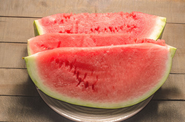 A few slices of watermelon