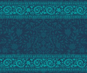 wedding card design, paisley floral pattern , India