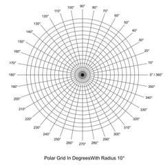 Polar Grid In Degrees vector