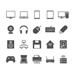 Computer flat icons.