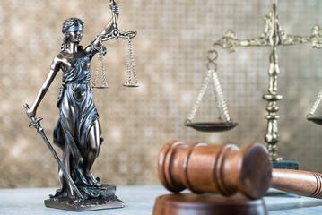 Law Concept. Golden Background