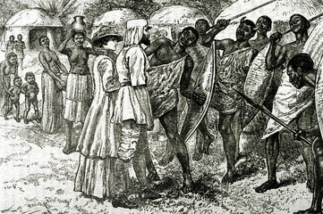 Samuel Baker and Florence Baker met with African natives