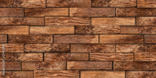 Rustikal background  old oak wooden wood palnks wall texture background / Holz Eiche ...