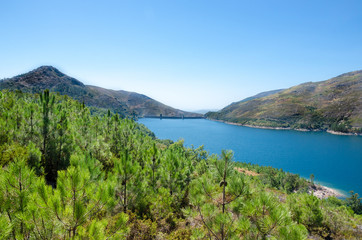 Dam of Vilarinho da Furna, National Park of Peneda-Geres, Portugal