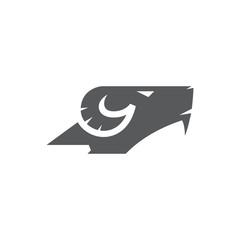 goat head logo vector