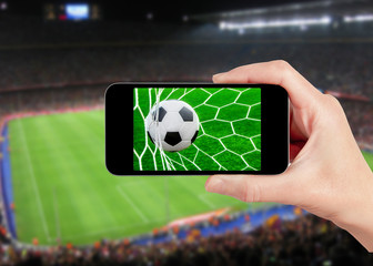 football game on mobile phone