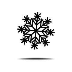 Various vector snow flakes on blue gradient background.