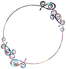 Luxurious abstract round frame. Vector clip art.