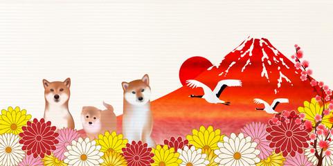 戌 富士山 新年 背景