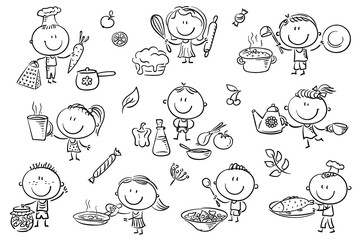 Wall Mural - Kids Cooking Set
