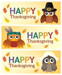 Happy Thanksgiving banners 2