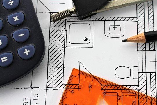 An concept image of a floorplan - bathroom