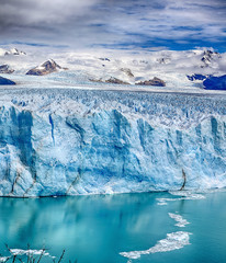 Staande foto Gletsjers Front of Perito Moreno Glacier at Los Glaciares National Park N.P. (Argentina) - HDR panorama