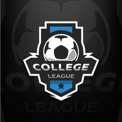 Football logo template.