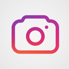 Modern photo camera icon. Isolated icon.