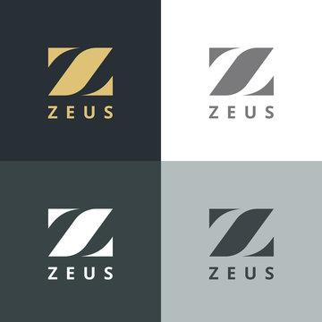 Elegant letter Z logo. Letter Design Vector