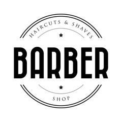 Barber shop vintage stamp logo