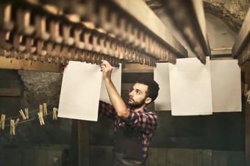 Hanging handicraft paper