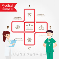 Medical health and healthcare icons and infographic.