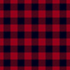 Dark red Lumberjack seamless pattern