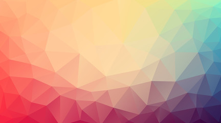 Flat Triangle multicolor background