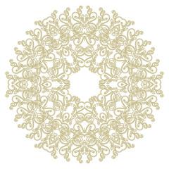круглый орнамент шаблон. Арабский, исламский, Восточный стиль. Векторная иллюстрация для поздравительной открытки, открытки, приглашения, плакат, баннер . декоративный элемент