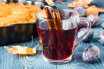Printed roller blinds Tea Autumn time with hot mulled wine and spices