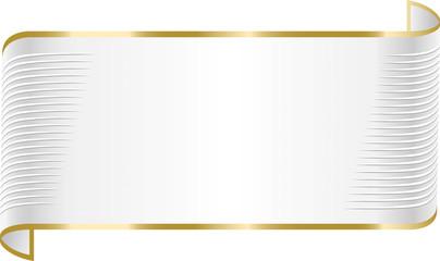 Elegant white ribbon banner.