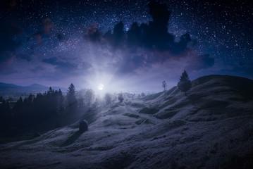 Deep night in a Carpathian valley