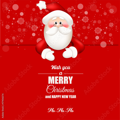 Santa Claus. Merry Christmas and Happy New Year.\