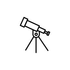 telescope astronomy icon line black