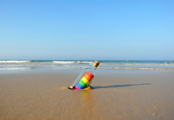Gay pride on the beach