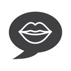 Erotic talk glyph icon