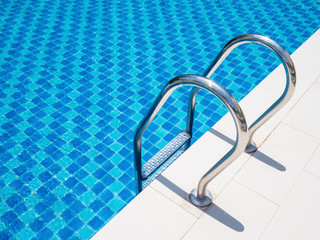Grab bar ladder in the swimming pool 1