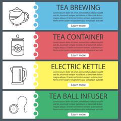 Tea web banner templates set