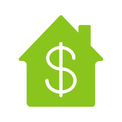 Property purchase glyph color icon