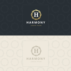 H Letter Logo, Icon with pattern. vector element