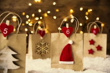 Christmas Shopping Bag, Santa Hat, Instagram Filter