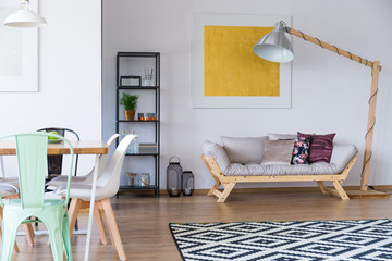 Living Room With Scandi Carpet