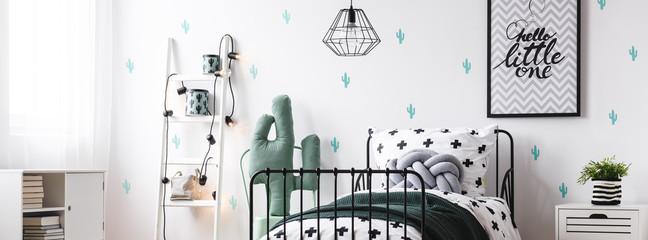 Kids room with cactus motif