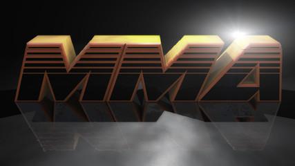 3d rendering.  Mixed martial arts MMA sign
