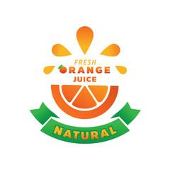 splash fresh orange juice illustration
