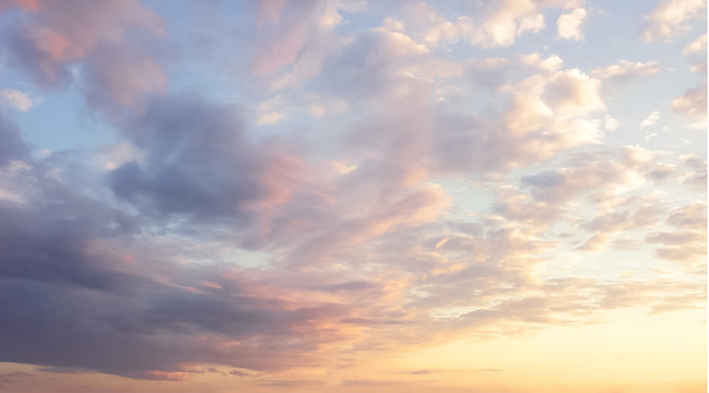 warm and gentle shades in the morning sky. calm and relaxing colors. spirituality.