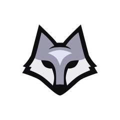 Wolf head icon on whit background. Logo for your project. Vector lllustration.