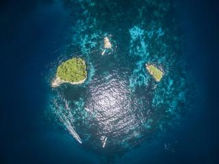 Overhead view of Raja Ampat Islands