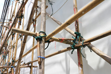 Bamboo Scaffolding Assembly