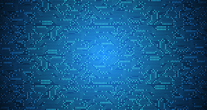 Vector abstract background technology circuit design.