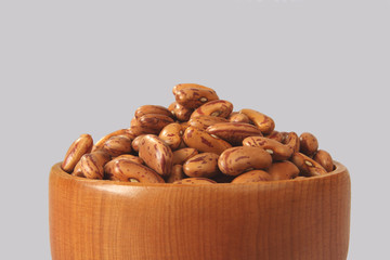 Indian red adzuki beans with Wooden Scoop