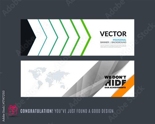 abstract vector set of modern horizontal website banners fotolia com
