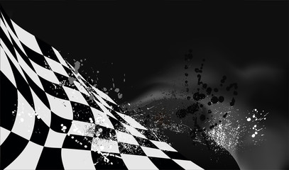 checkered flag background vector race design Wall mural